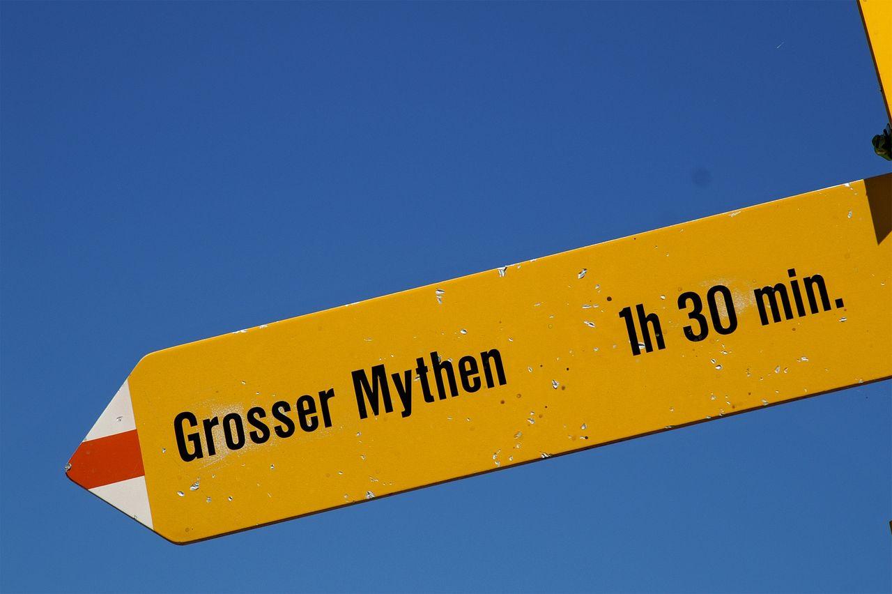 Von Holzegg auf den Grossen Mythen