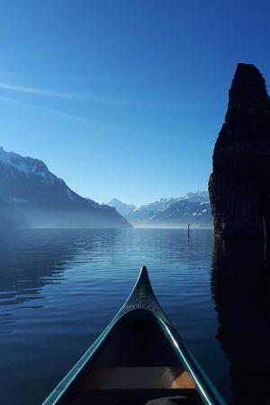 Kanu-Wintertouren am Vierwaldstättersee