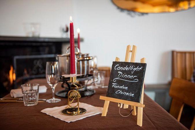 Candlelight Dinner Berggasthaus Rigi Scheidegg