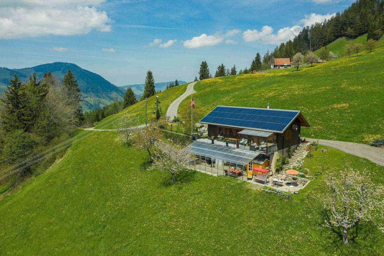 Ferienwohnung Chalet Engelstock - Schwyz, (Schwyz). 1,5 Zimmer-Wohnung