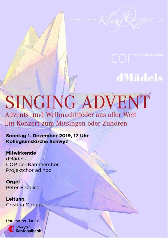 SINGING ADVENT - ein Konzert zum Mitsingen oder Zuhören