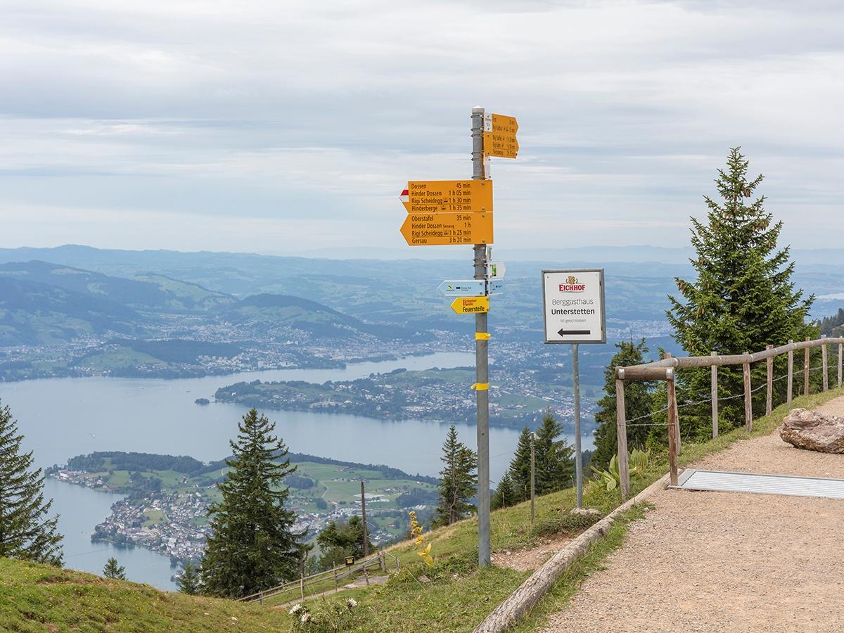 Etappe: Rigi Scheidegg - Rigi Kaltbad   Schwyzer Tal- & Gipfeltour